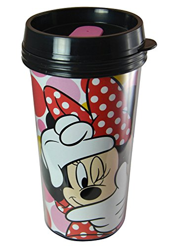 Disney Minnie Mouse 16oz Double Walled Travel Tumbler (Disney Coffee Travel Cup compare prices)