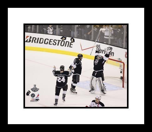 Drew Doughty, Jonathan Quick & Colin Fraser Los Angeles Kings NHL Framed 8x10 Photograph Stanley Cup Celebration