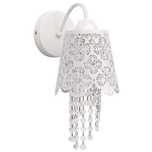 Applique style baroque, armature en métal coloré en blanc, plafonnier en forme de abat-jour E14 1x60W 230V