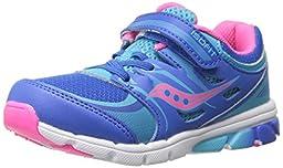 Saucony Girls Baby Zealot Sneaker (Toddler/Little Kid),Blue/Pink,7.5 M US Toddler
