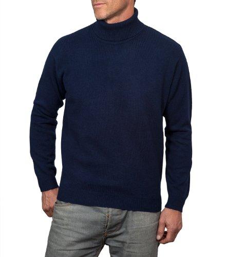 Wool Overs Men's Lambswool Polo Neck Jumper