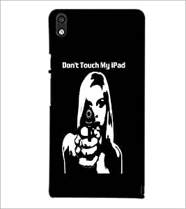 PrintDhaba Girl and Gun D-2370 Back Case Cover for HUAWEI ASCEND P6 (Multi-Coloured)