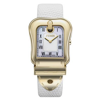 Fendi B. Large Gold Plated MOP Dial Quartz Watch - F373144