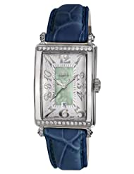 Gevril Women's 7246NT.3 Green Mother-of-Pearl Genuine Alligator Strap Watch