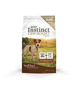 Nature's Variety Instinct Raw Boost Small Breed Grain-Free Duck Meal Formula Dry Dog Food, 4.1 lb Bag