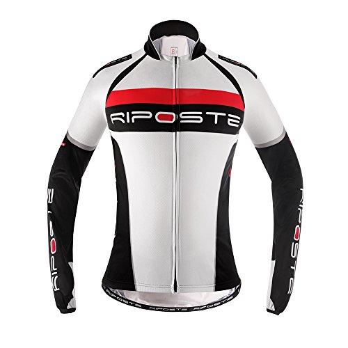 Riposte Scout Maglietta Ciclismo Invernale Uomo(Bianco,XL)
