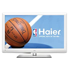 Haier HL32XSLW2 White 32-Inch Ultra Slim LED 1080p 120 Hz LCD HDTV