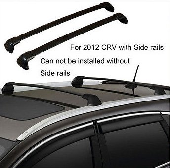 2012 13 14 15 Honda CRV Black Roof Rack Cross Bar Bolt-On to OEM Factory Holes Mount (2015 Honda Crv Crossbars compare prices)