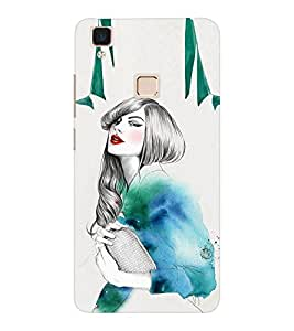 EPICCASE Sweet girl Mobile Back Case Cover For VIVO V3 (Designer Case)