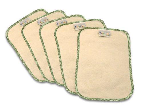 BabyKicks 5 Piece Premium Baby Wipes, Green, One Size