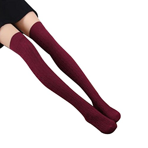 Coromose Women Knit Over Knee Thigh Stockings Spiral Pattern High Socks 2018 winter thigh high boots women faux suede leather high heels over the knee botas mujer plus size shoes woman 34 43