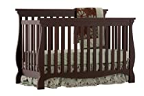 Hot Sale Stork Craft Carrara 4-in-1 Fixed Side Convertible Crib, Espresso