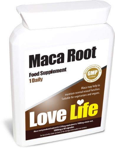 Love Life High Strength Maca Root | 4: 1 250Mg X 60 Capsules | Premium Gmp Supplement (Rich In Essential Minerals For Healthy Sexual Function / Anxiety / Depression / Energy / Mood Swings)
