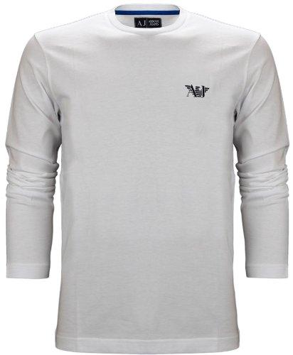 Armani Jeans Men's Eagle Logo Long Sleeve T-Shirt White (XXL)