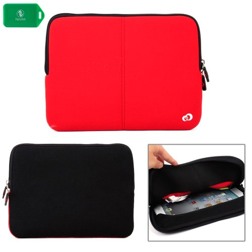 PROTECTIVE NEOPRENE SLEEVE WITH INTERNAL POCKETS NEOPRENE SLEEVE in RED FOR LG G Pad 8.3 Google Play Edition