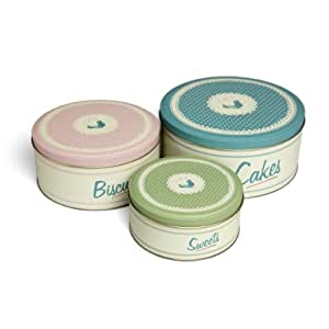 Retro Kitchen Set Of 3 Cake Tins