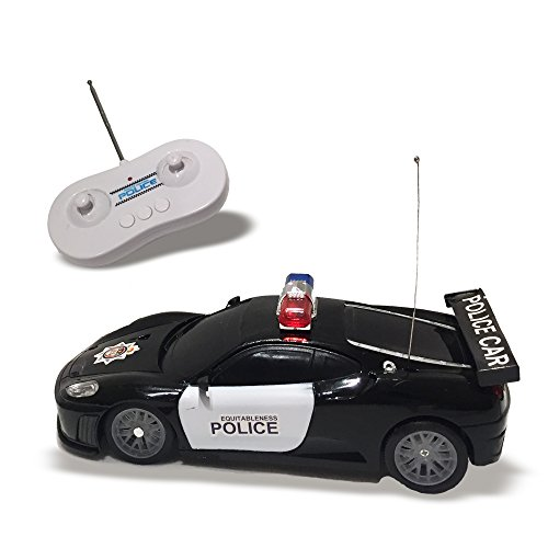 Remote Control Police Car Toy with LED Lights and Police Siren Sounds for Kids Boys and Girls (Disney Crown Car Emblem compare prices)