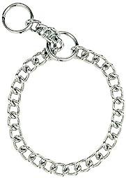 Herm Sprenger Steel Chain Choke  Dog Collar 26 in. with 3 mm. Heavy links