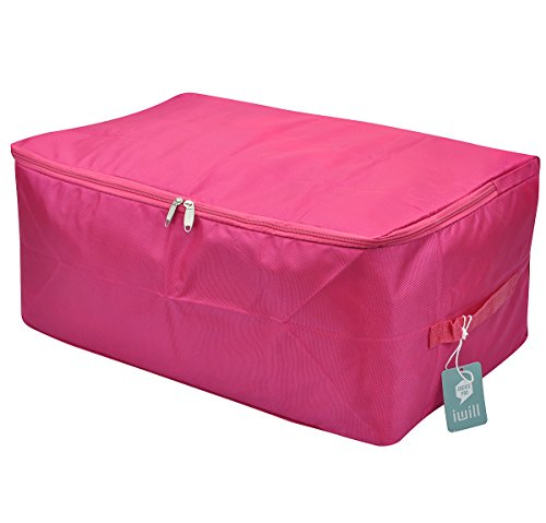 Viaggi sacchetto dell'organizzatore, contenitore di immagazzinaggio per l'uso universitaria-camera, impermeabile ed antipolvere, attraente colore (rosso rosato, L)