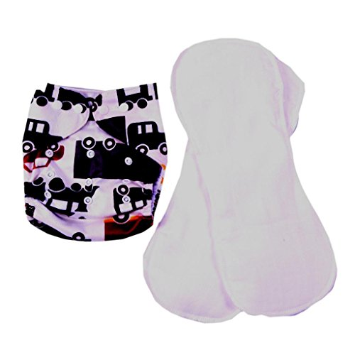 ilovebaby Baby One Size Washable Reusable TPU Cloth Diaper (Car Print) - 1