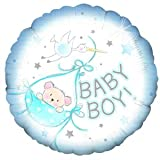 Baby Boy Special Delivery balloon delivered inflated in a box