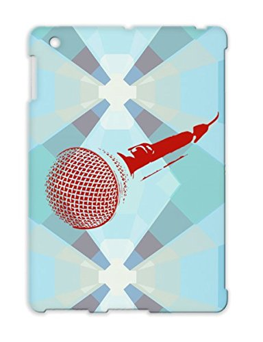 Tpu Microphone Art Design Reop Reporter Studio Notes Music Stage Illustration Sound Engineering Recording Case For Ipad 4 Red