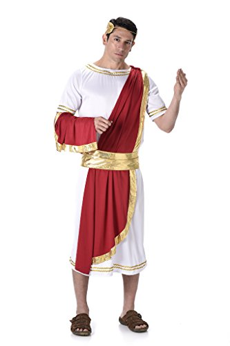 [Men's Roman Emperor - Halloween Costume (L)] (1980s Movie Character Costumes)