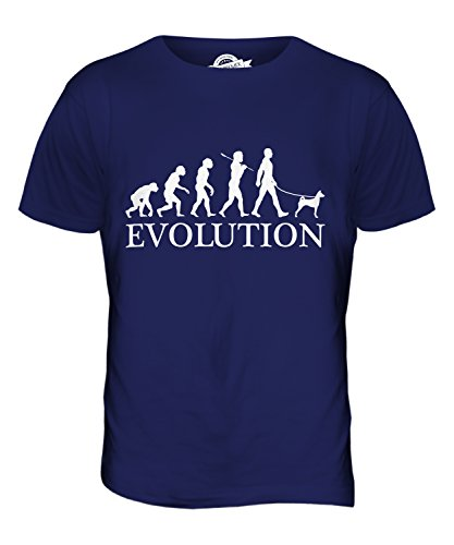 candymix-basenji-evoluzione-umana-unisex-bambino-ragazzi-ragazze-t-shirt-taglia-2-anni-colore-blu-na