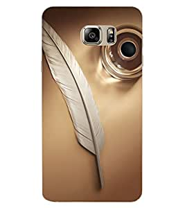 ColourCraft Feather Design Back Case Cover for SAMSUNG GALAXY NOTE 7 DUOS