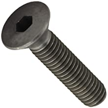 12.9 Alloy Steel Socket Cap Screw, Metric, Flat Head, Internal Hex Drive, Black Oxide Finish, Meets DIN 7991 Specifications, M5-0.80, 16mm Length, Pack Of 100