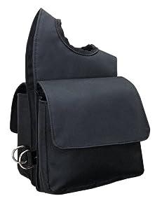 Weaver Leather Nylon Pommel Bag, Black
