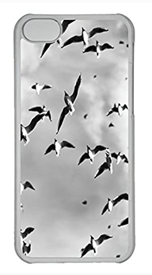 iPhone 5c case, Cute Bird Pattern iPhone 5c Cover, iPhone 5c Cases, Hard Clear iPhone 5c Covers