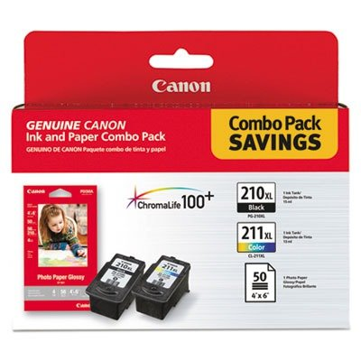 Canon-PG-210-XL-and-CL-211-XL-Ink-plus-50-Sheet-4-x-6-Paper-Combo-Pack
