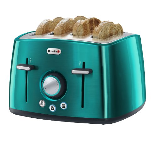 Breville Rio Teal 4-Slice Stainless Steel Toaster from Breville