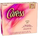 Caress Nature's Daily Silk Beauty Bar Soap - White Peach & Silky Orange Blossom - 4.0 oz - 12 count
