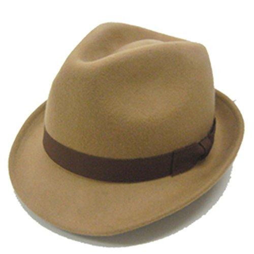 Amazon.co.jp: カラー フェルト ハット ウール 中折れ 帽子 57.5cm 59cm: 服&ファッション小物