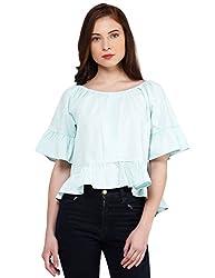 Oxolloxo Women cotton green top