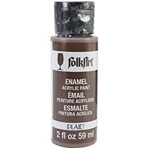 Folk Art 4013 Enamel 2-Ounce Acrylic Paint, Coffee Bean
