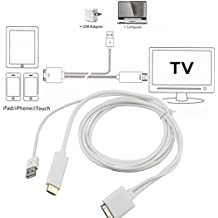 Alcoa Prime 1pc Dock To HDMI HDTV TV ADAPTER USB CABLE For Apple For IPhone 4 4S For IPad 2 3 For IPod Newest