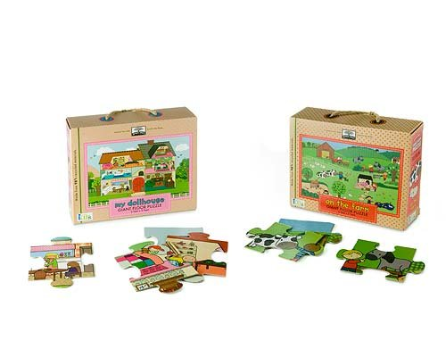 Cheap Fun Dollhouse & Farm Giant Floor Puzzles (B003II12BC)