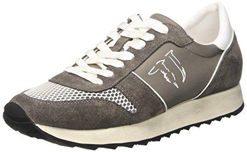 Trussardi Jeans 77S06449 Scarpe da ginnastica, Uomo, Grigio (18 Grigio), 40