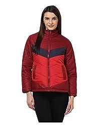Yepme Angie Full Sleeves Jacket - Maroon & Red -- YPMJACKT5082_XL