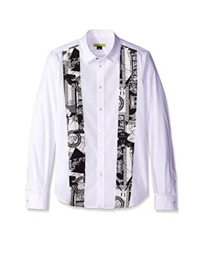 Versace Jeans Men's Printed Bib Shirt