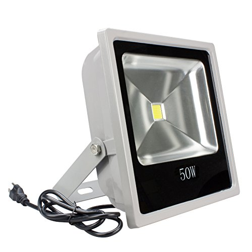 Loftek® 50W High Power Waterproof Outdoor Security Led Flood Light Spotlight With 1.3 Meter Plug,White. (50W)