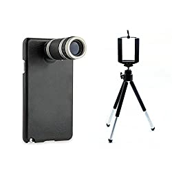 SAMSUNG NOTE 3 8X TELESCOPE LENS WITH BACK COVER/CASE & MOBILE TRIPOD