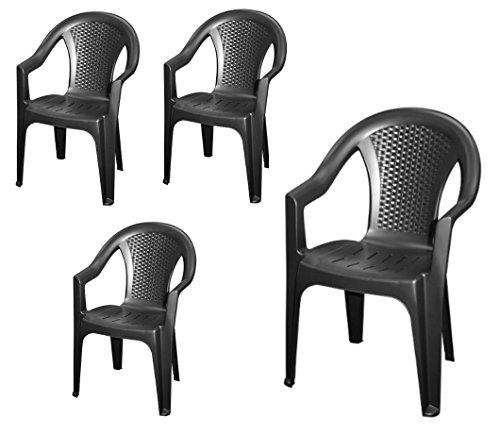 Stapelbarer-Gartenstuhl-in-anthrazit-4er-Set-Monoblock-in-Rattan-Optik-aus-Kunststoff-Stapelstuhl-Kunststoffstuhl