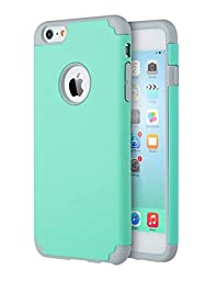 iPhone 6 Cases, Vogue Shop 2in1 Hybrid Case Cover for Iphone 6. Hard Cover for Iphone 6 Printed Design Pc+ Silicone Hybrid High Impact Defender Case Combo Hard Soft Cases Covers