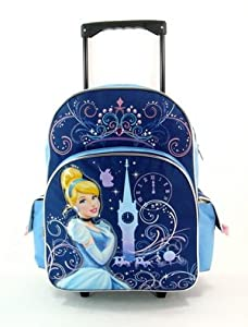 "16"" Disney Princess Glass Castle Rolling Backpack-tote-bag-school by KDJ"