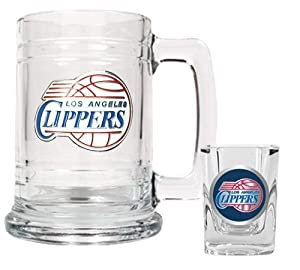 NBA Los Angeles Clippers Boilermaker Set - Primary Logo by Great American Products