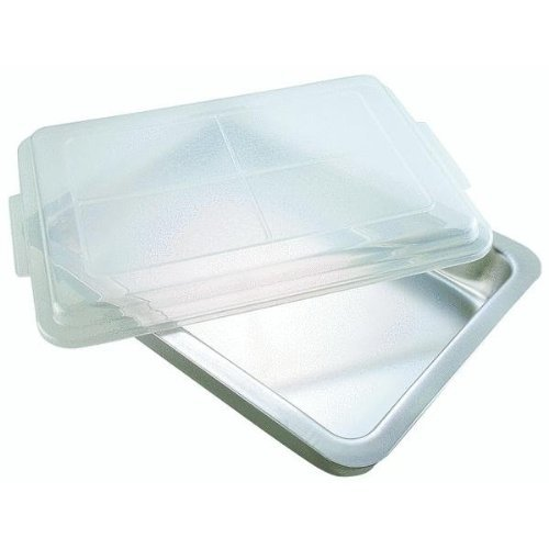 AirBake Ultra by T-fal 08606PA T492BDA2 Natural Oblong Baking 13 x 9 x 2.25-Inch Cake Pan with Cover Bakeware, Silver